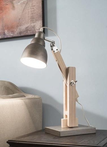 Ayarlanabilir Ahşap & Metal Masa Lambası-Warm Design